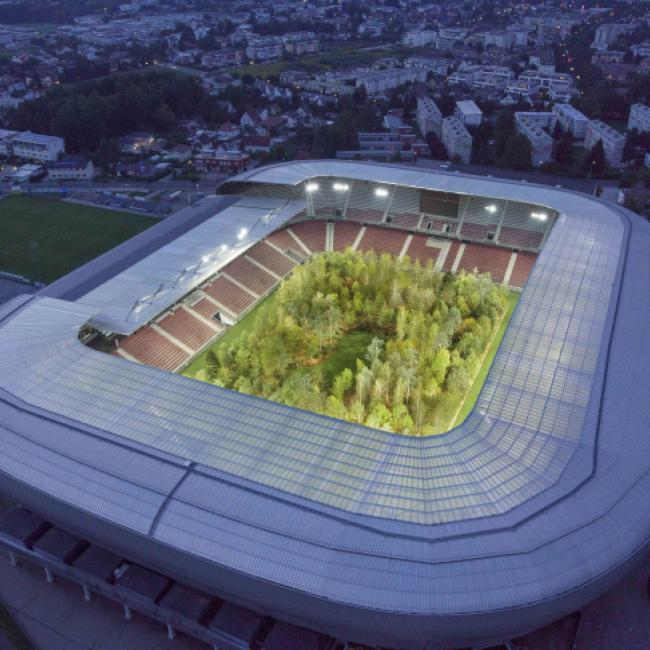 For Forest Stadium Klagenfurt Austria Soccer