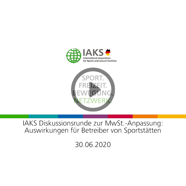Video title and IAKS logo on a white background